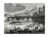 Experiment of the Marquis De Jouffroy on the Saône at Lyon July 15 1783 Giclee Print