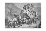 Travelling Through the American West by Concord Stagecoach in the 1860S Giclee Print