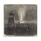 Display of Fireworks in the Inner Harbour of Cherbourg, in Honour of the British Channel Squadron Giclee Print