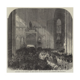 The Funeral of Lord Palmerston, the Clergy Receiving the Body at the West Door of Westminster Abbey Giclee Print
