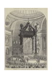 Return of the Pope to Rome, Interior of St Peter'S, the Pope at the Grand Altar Giclee Print