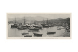 The Town and Port of Batum, Partially Destroyed by a Magazine Explosion, 25 July Giclee Print