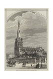 Meeting of the British Association at Bristol, St Mary Redcliffe Church Giclee Print