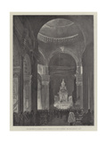 The Late Duke of Clarence, Memorial Service in St Paul's Cathedral, the Dead March in Saul Giclee Print