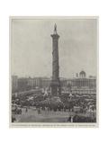 The Anniversary of Trafalgar, Decoration of the Nelson Column in Trafalgar Square Giclee Print
