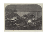 The Fatal Accident at New Mills, on the Peak Forest Line of the Midland Railway Giclee Print