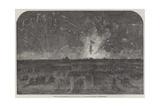 Bonfire and Fireworks on Blackheath, to Celebrate the Fall of Sebastopol Giclee Print