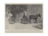 Gun and Gun-Carriage, with Mule, Presented by the Queen to the Sultan of Morocco Giclee Print
