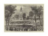 The American Centennial Festival, Independence Hall, Philadelphia, on the Fourth of July Giclee Print