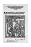 Bartolommeo De' Sacchi (Platina) Writing 'Historia De Vitis Pontificum Romanorum', 1505 Giclee Print
