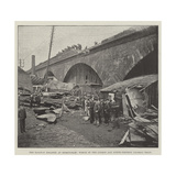 The Railway Disaster at Birmingham, Wreck of the London and North-Western Express Train Giclee Print