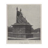 The Statue of Queen Victoria at Calcutta, Unveiled by the Viceroy of India, 19 March Giclee Print