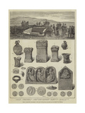 Roman Antiquities Discovered at the Site of Procolitia, on the Wall of Hadrian and Severus Wydruk giclee