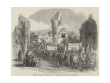 Opening of the Central Somerset Railway, Procession in the Abbey Grounds, at Glastonbury Giclee Print