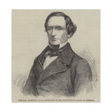The Honourable Jefferson Davis, President of the Confederate States of America Giclee Print