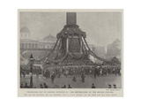 Trafalgar Day in London, 21 October, the Decorations of the Nelson Column Giclee Print