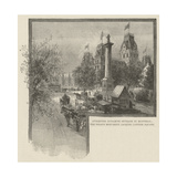 Attempted Dynamite Outrage in Montreal, the Nelson Monument, Jacques Cartier Square Giclee Print