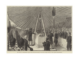 The Duke of Edinburgh Laying the Foundation-Stone of the New Opera House on the Thames Embankment Giclee Print
