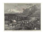 Works of the Midland Railway at King'S-Cross, Temporary Bridge, Old St Pancras-Road Giclee Print