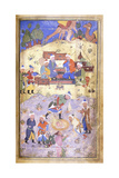 Yusuf Being Rescued from the Pit, C.1492-3 (Illuminated Manuscript on Paper) Giclée-tryk