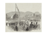 Equestrian Statue of Charles XIV (Bernadotte) Just Inaugurated at Stockholm Giclee Print