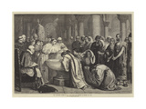 The Compulsory Baptism of the Moors after the Conquest of Granada, Ad 1500 Giclée-tryk