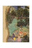 Rama and Lakshmana Offering Water to their Dead Father on the Banks of the Mandakini River, C.1595 Lámina giclée