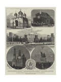 The Imperial Coronation at Moscow, Cathedrals and Palaces, with the Illuminations Giclee Print