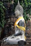 Statue of Buddha, Wat Mahathat, Ayutthaya (Unesco World Heritage List, 1991), Bangkok, Thailand Giclee Print