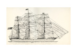 Sails and Rigging of a Mid-19th Century Clipper. from the National Encyclopaedia, Published C.1890 Giclee Print