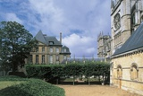 Palace in Front of a Cathedral, Episcopal Palace, Cathedral of Notre-Dame, Evreux, Normandy, France Giclee Print