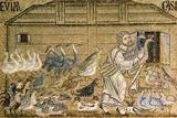 Italiy. Venice. Saint Mark's Basilica. Noah's Ark. Mosaic. 12th-14th Centuries Wydruk giclee