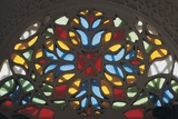 Stained Glass on a Window of a Palace, Rock Palace, Dar Al-Hajar, Wadi Dhahr, Yemen Giclee Print