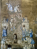 Italiy. Venice. Saint Mark's Basilica. Construction of the Tower of Babel. 13th Century Giclee Print
