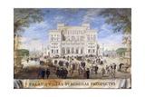 Facade of Villa Borghese, Painting by Johann Wilhelm Baur (1607-1642), Italy, 17th Century Giclee Print