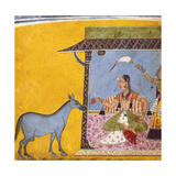 Gaudi Ragini, Wife of Sri Raga, C.1690-5 (Gouache with Gold and Silver Paint on Paper) Giclee Print
