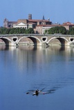 Pont-Neuf over Garonne River, Toulouse, Midi-Pyrenees, France, 16th Century Giclee Print