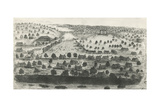 Austin, Capital City of Texas, 1840, Lithograph, United States of America, 19th Century Giclee Print