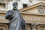St. Peters Statue. Sculpted from 1838-1840 by Venetian Sculptor Giuseppe De Fabris (1790-1860). St. Photographic Print