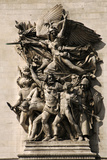 France. Paris. Triumphal Arch. Depart of 1792. La Marseillaise Personified on the Arc De Triomphe.  Photographic Print