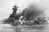 Explosions on Board the Ironclad 'Admiral Graf Spee', at Montevideo, 1939 Photographic Print