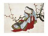 Poetess Ono No Komachi (Ca 825-900) from L'Art Magazine, 1875, Japanese Civilization Wydruk giclee