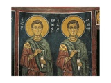 Paintings of St. Cosmas with St. Damian, Panagia Ties Asinou Church, Nikitart, Cyprus Giclee Print