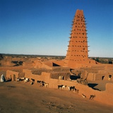 Great Mosque (Unesco World Heritage List, 2013), Agadez, Niger, 16th-19th Century Giclee Print