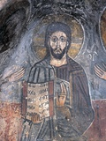 Close-Up of a Fresco of a Pantocrator, Christ Pantocrator, Zoupena, Sparta, Peloponnesus, Greece Giclee Print
