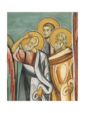 Three People in a Church, Panagia Too Araka, Bizantine, Troodos Mountains, Cyprus Giclee Print