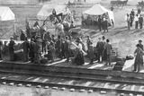 A Railway Station in the So-Called Wild West of the USA in the Second Half of the 19th Century Photographic Print