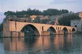 Arch Bridge over a River, Pont Saint-Benezet, Avignon, Provence-Alpes-Cote D'Azur, France Photographic Print