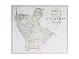 Map of Province of Calabria Citerior or Latin Calabria, Province of Cosenza Giclee Print