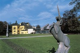 Close-Up of a Statue in the Yard of a Palace, Hellbrunn Palace, Salzburg, Austria Photographic Print